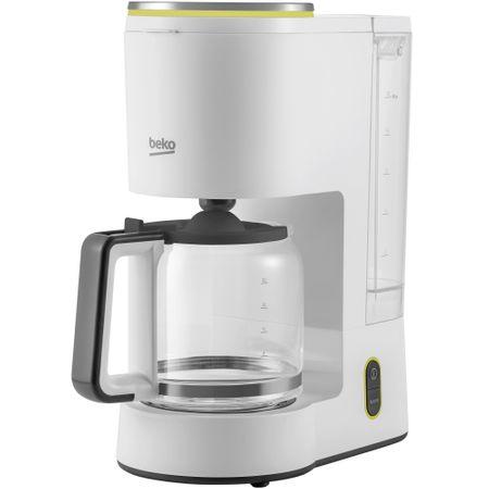Cafetiera Beko Foodster FCM1321W, 1000W, capacitate 10 cesti, functie ajustare aroma, oprire automata, Alb 0