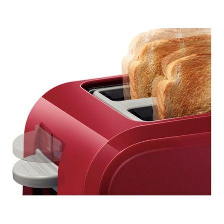 Prajitor de paine Bosch TAT3A014, 980 W, 2 felii, Rosu [3]