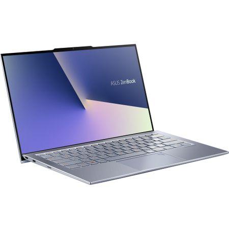 """Laptop ultraportabil ASUS UX392FA-AB002R cu procesor Intel® Core™ i7-8565U pana la 4.6 Ghz, 13.9"""", Full HD, 16GB, 512GB SSD M.2, Intel UHD Graphics 620, Windows 10 Pro, Utopia Blue 18"""