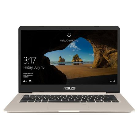"Laptop ultraportabil ASUS S406UA-BM029T cu procesor Intel® Core™ i5-8250U pana la 3.40 GHz, Kaby Lake R, 14"", Full HD, 4GB, 256GB M.2 SSD, Intel® HD graphics 620, Microsoft Windows 10, Gold Metal"
