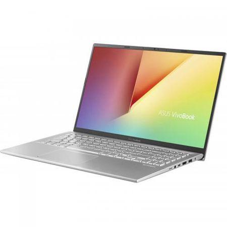 "Laptop ASUS VivoBook 15 X512FA-EJ1038, 15.6"" FHD, Intel Core i5-8265U (6M Cache, up to 3.90 GHz), Intel UHD Graphics 620, 8GB DDR4 2400Mhz (4 onboard+ 4 SODIMM), SSD 512GB M.2 NVME + slot liber SATA3, NO ODD, Silver, FARA OS 2"