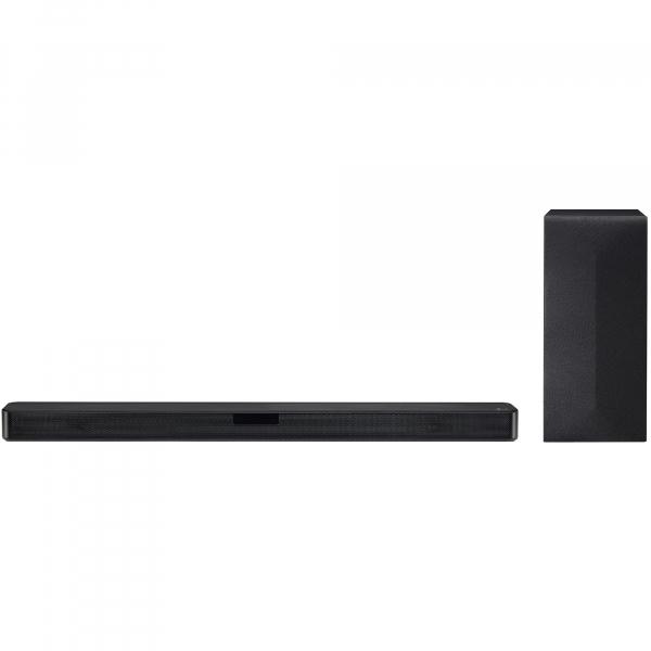 Soundbar LG SL4Y, 2.1, 300W, Bluetooth, Subwoofer Wireless, Dolby, DTS, negru 0