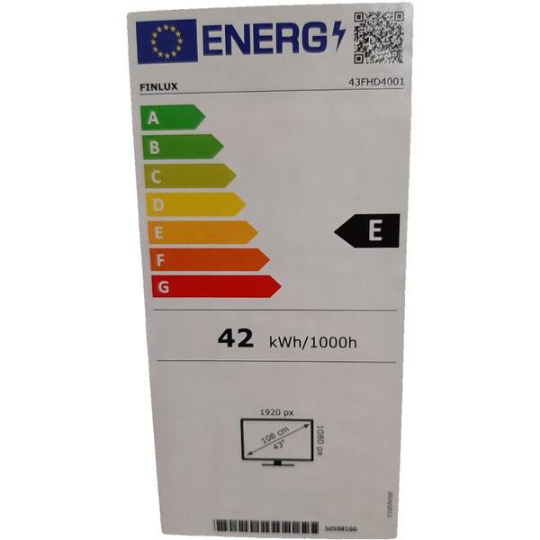Televizor LED Finlux 108 cm 43FHD4001, Smart, FHD, Clasa E, Negru [1]