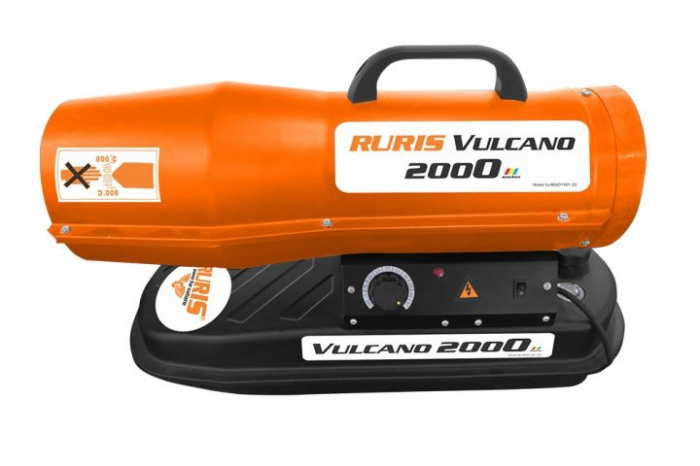 Tun de aer cald cu ardere directa RURIS Vulcano 2000 2