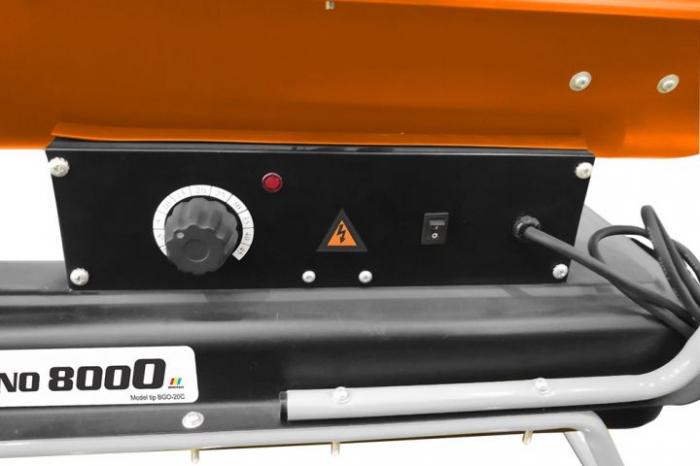 Tun de aer cald cu ardere indirecta RURIS Vulcano 8000 2