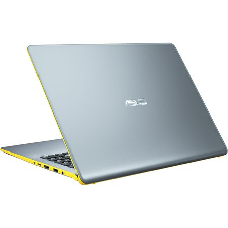 "Ultrabook ASUS VivoBook S15 S530UA-BQ056 cu procesor Intel® Core™ i5-8250U pana la 3.40 GHz, Kaby Lake R, 15.6"", Full HD, 8GB, 256GB SSD, Intel® UHD Graphics 620, Endless OS, Silver Blue with Yellow T 5"