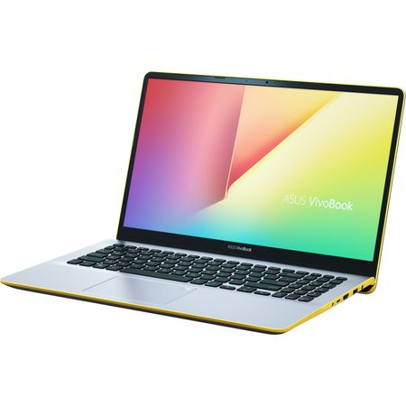 "Ultrabook ASUS VivoBook S15 S530UA-BQ056 cu procesor Intel® Core™ i5-8250U pana la 3.40 GHz, Kaby Lake R, 15.6"", Full HD, 8GB, 256GB SSD, Intel® UHD Graphics 620, Endless OS, Silver Blue with Yellow T 3"