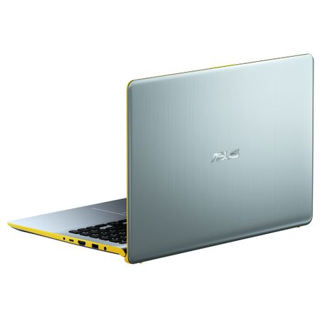 "Ultrabook ASUS VivoBook S15 S530UA-BQ056 cu procesor Intel® Core™ i5-8250U pana la 3.40 GHz, Kaby Lake R, 15.6"", Full HD, 8GB, 256GB SSD, Intel® UHD Graphics 620, Endless OS, Silver Blue with Yellow T 6"