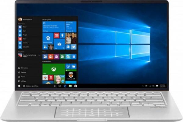 Ultrabook ASUS ZenBook 14 UM433DA AMD Ryzen 7 3700U 512GB SSD 8GB AMD Radeon RX Vega 10 FullHD Win10 Pro Tast. ilum. Icicle Silver UM433DA-A5010R [0]