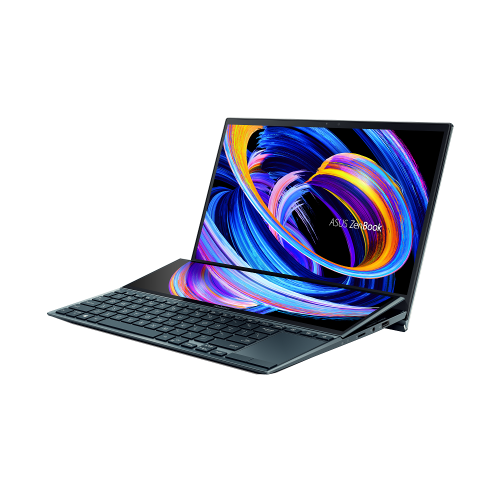 Ultrabook ASUS ZenBook Duo 14 UX482EA-HY026R, Intel Core i5-1135G7, 14inch Touch, RAM 8GB, SSD 512GB, Intel Iris Xe Graphics, Windows 10 Pro, Celestial Blue 3
