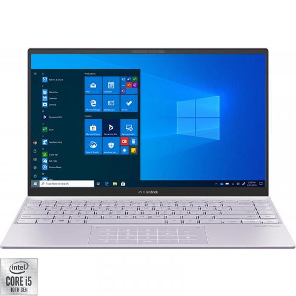 UltraBook ASUS ZenBook 14 UX425JA-BM003T, 14 FHD, Intel Core i5-1035G1 (1.0GHz, up to 3.6GHz, 6MB), Intel UHD, 16GB DDR4, SSD 512GB, no ODD, Windows 10 Home, Lila 0