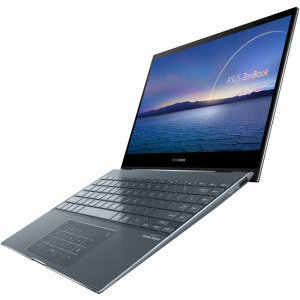 Ultrabook ASUS 13.3'' ZenBook Flip 13 UX363EA-EM073R, FHD Touch, Procesor Intel® Core™ i5-1135G7 (8M Cache, up to 4.20 GHz), 8GB DDR4, 512GB SSD, Intel Iris Xe, Win 10 Pro, Pine Grey10