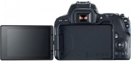 Canon Aparat Foto DSLR Canon EOS 200D, + EF-S 18-55mm DC, 24.2 MP, Full HD, Wi-Fi (Negru) (2250C011AA)