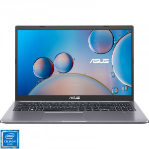 Laptop ASUS 15.6'' X515MA-BR414, HD, Procesor Intel® Celeron® N4020 (4M Cache, up to 2.80 GHz), 4GB DDR4, 256GB SSD, GMA UHD 600, No OS, Slate Grey [0]