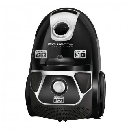 Aspirator Rowenta Compact Power Animal Care, RO3985EA, 750W, Tub telescopic din metal, Sac Hygiene+, Negru0