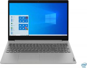 "Laptop Lenovo - IdeaPad 3 Intel Core i3-1005G1, 15,6"", 8GB RAM, 256GB SSD, Windows 10, Platinum Grey, 81WE011UUS0"
