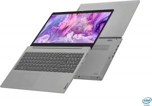 "Laptop Lenovo - IdeaPad 3 Intel Core i3-1005G1, 15,6"", 8GB RAM, 256GB SSD, Windows 10, Platinum Grey, 81WE011UUS3"