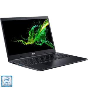 """Laptop Aspire 5 A515-54G cu procesor Intel Core i3-8145U pana la 3.90 GHz, 15.6"""", Full HD, 4GB, 256GB SSD, NVIDIA® GeForce® MX250 2GB, No OS, Black, NX.HDEEX.0170"""