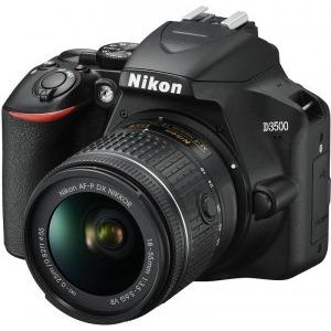 Aparat foto DSLR Nikon D3500, 24.2MP, Negru + Obiectiv AF-P 18-55mm VR6