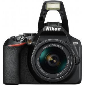 Aparat foto DSLR Nikon D3500, 24.2MP, Negru + Obiectiv AF-P 18-55mm VR2