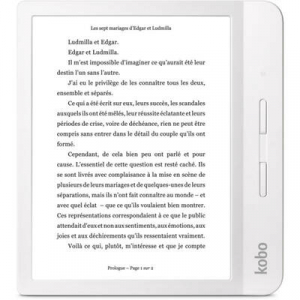 "eBook Reader Kobo Libra H2O, 7"", 8GB, Wi-Fi, White0"