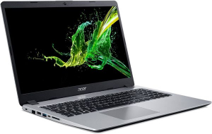 "Laptop Acer Aspire A515-53G, Intel® Core™ i5-8265U (6M Cache, up to 3.90 GHz), Whiskey Lake, 15.6"" FHD, 8GB, 256GB SSD, nVidia GeForce MX130 @2GB, Linux, Argintiu, NX.H84EX.00E1"