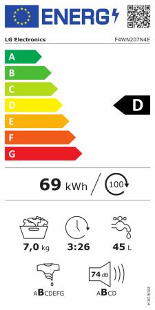 Masina spalat rufe LG F4WN207N4E, 7 kg, 1400 RPM, Clasa D, Inverter Direct Drive, Smart Diagnosis, Alb [11]