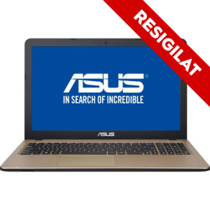 "Laptop ASUS X540MA-GO360 cu procesor Intel® Celeron® N4000 pana la 2.60 GHz, 15.6"", 4GB, 256GB SSD, DVD-RW, Intel® UHD Graphics 600, Endless OS, Chocolate Black0"