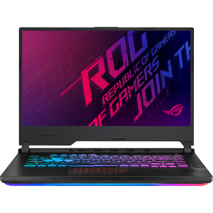 "Laptop Gaming ASUS ROG Strix G G531GU-AL061, Intel Core i7-9750H pana la 4.5GHz, 15.6"" Full HD, 16GB, SSD 512GB, NVIDIA GeForce GTX 1660Ti 6GB, Free Dos, Negru0"
