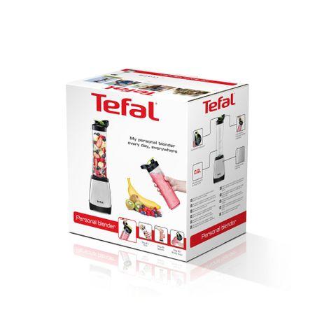 Blender de masa Tefal, 300W, recipient 0.6 litri, o viteza, OnTheGo, culoare Inox