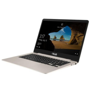 "Resigilat-Laptop ultraportabil ASUS S406UA-BM029T cu procesor Intel® Core™ i5-8250U pana la 3.40 GHz, Kaby Lake R, 14"", Full HD, 4GB, 256GB M.2 SSD, Intel® HD graphics 620, Microsoft Windows 10, Gold"