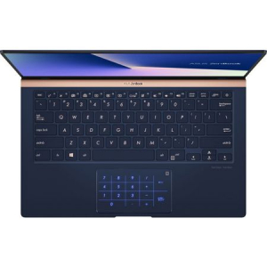 "Laptop ultraportabil ASUS ZenBook UX433FA-A5289R cu procesor Intel® Core™ i5-8265U pana la 3.9 GHz, 14"", Full HD, 8GB, 256GB SSD M.2, Intel UHD Graphics 620, Windows 10 Pro, Royal Blue Metal9"