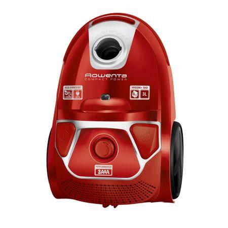 Aspirator cu sac Rowenta Compact Power parquet RO3953EA, Tub telescopic din metal, Sac Hygiene+, Rosu