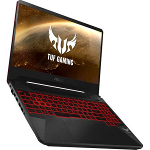 "Laptop Gaming ASUS TUF FX505GD-BQ125 cu procesor Intel® Core™ i7-8750H pana la 4.10 GHz, Coffee Lake, 15.6"", Full HD, IPS, 8GB, 1TB Hybrid FireCuda, NVIDIA GeForce GTX 1050 4GB, Free DOS, Black15"