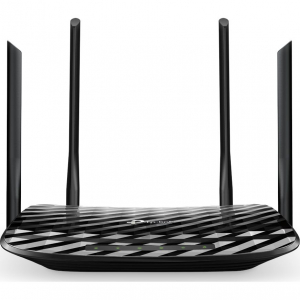 Router wireless TP-Link Archer C6, AC1200, Gigabit, Dual-Band, Negru0