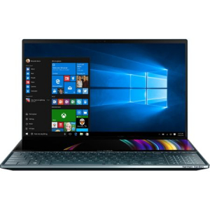 "Laptop ultraportabil Asus ZenBook Pro Duo UX581GV-H2004R cu procesor Intel® Core™ i7-9750H pana la 4.5 GHz, 15.6"", 4K, 16GB, 512GB SSD M.2, NVIDIA GeForce RTX 2060 6GB, Windows 10 Pro, Celestial Blue0"