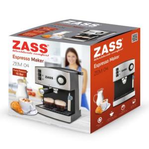 Resigilat - Espressor manual Zass ZEM 04, 850W, 15 bari, 2 portfiltre [1]