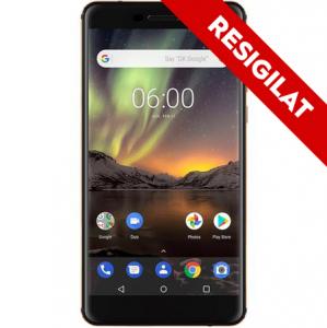 Resigilat-Telefon mobil Nokia 6.1 (2018), Dual SIM, 32GB, 4G, Black (11PL2B01A07)0