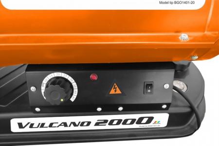 Tun de aer cald cu ardere directa RURIS Vulcano 20001