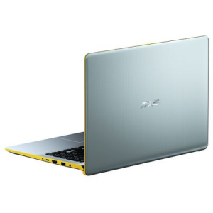"Ultrabook ASUS VivoBook S15 S530UA-BQ056 cu procesor Intel® Core™ i5-8250U pana la 3.40 GHz, Kaby Lake R, 15.6"", Full HD, 8GB, 256GB SSD, Intel® UHD Graphics 620, Endless OS, Silver Blue with Yellow T6"