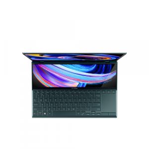 Ultrabook ASUS ZenBook Duo 14 UX482EA-HY024R, Intel Core i5-1135G7, 14inch Touch, RAM 8GB, SSD 512GB, Intel Iris Xe Graphics, Windows 10 Pro, Celestial Blue1