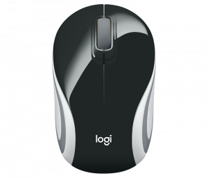 Mouse Wireless Logitech M187, USB, Negru, 910-0027313