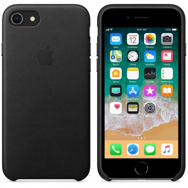 Apple iPhone 8/7 Leather Case - Black 3