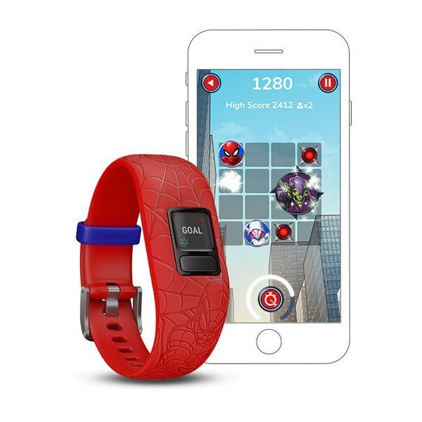 FITNESS WRISTB VIVOFIT JR2 SPIDERMAN RED 2