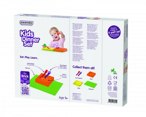 Kids Dinner Gift Box - bowl (y) & spoon 0