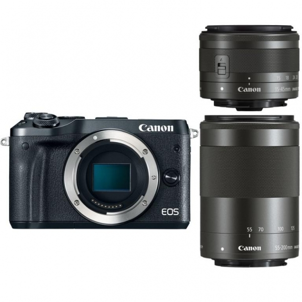 Camera foto Canon EOS M6 double kit EF-M 15-45mm + 55-200mm, 24.2Mpx 3