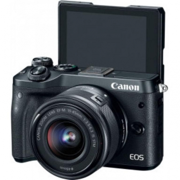 Camera foto Canon EOS M6 double kit EF-M 15-45mm + 55-200mm, 24.2Mpx 1