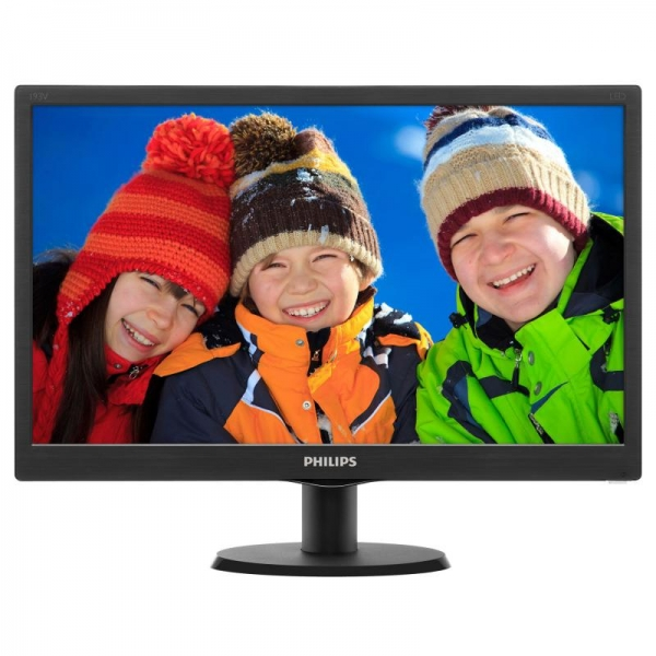 "Monitor 18.5"" PHILIPS 193V5LSB2, FWXGA 1366*768, TN, 16:9, WLED, 5 ms, 200 cd/m2, 90/65, 10M:1/ 700:1, D-SUB, VESA, , Black 3"