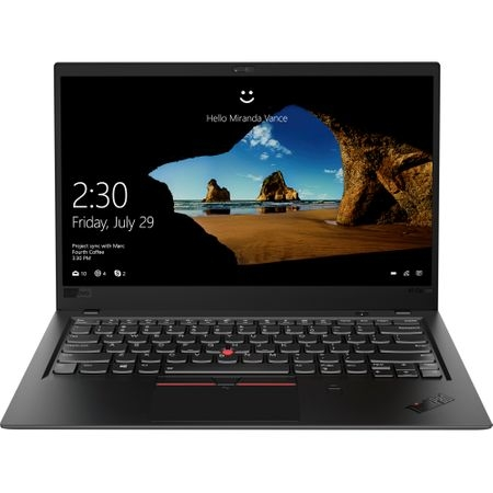 "Laptop ultraportabil Lenovo ThinkPad X1 Carbon 6th cu procesor Intel® Core™ i5-8250U pana la 3.40 GHz, Kaby Lake R, 14"", Full HD, IPS, 8GB, 512GB SSD, Intel® UHD Graphics 620, Microsoft Windows 10 Pro 0"