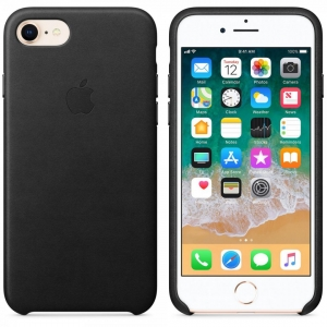 Apple iPhone 8/7 Leather Case - Black2